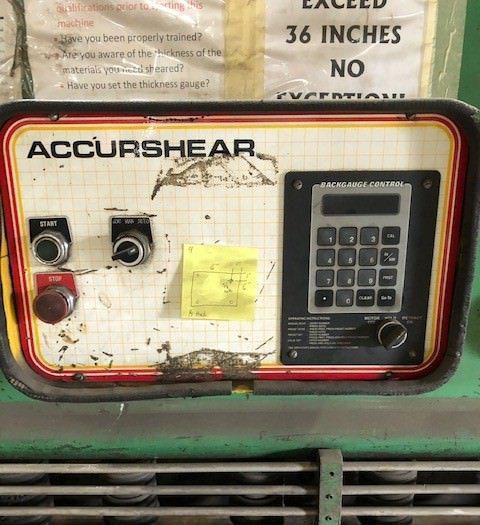 """Accurshear 625012 1/4"""" x 12' Hydraulic Plate Shear"""