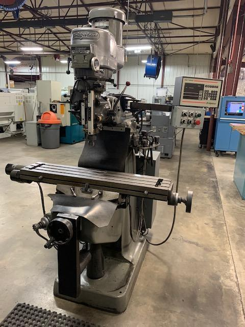 2 HP 1995 BRIDGEPORT EZ TRAK MODEL DX CNC 2 AXIS VERTICAL MILL: STOCK 12884