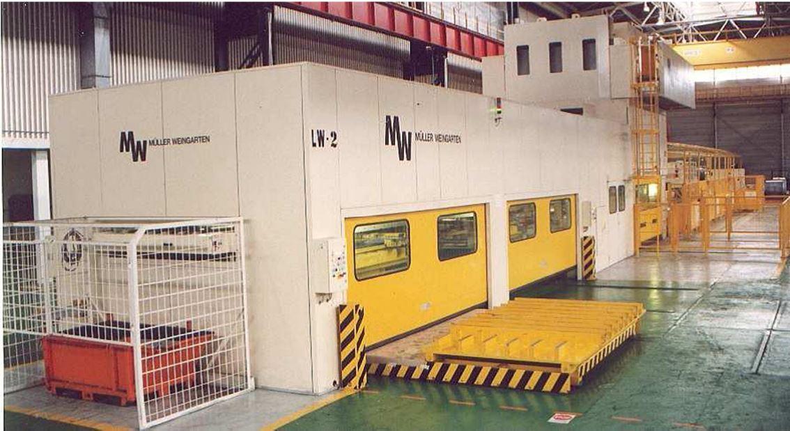 400 Ton Muller Weingarten Blanking Line Year 1998