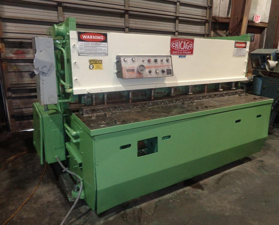"""1/4"""" x 6 ft, Chicago Hydraulic Shear, Model CPA-620"""