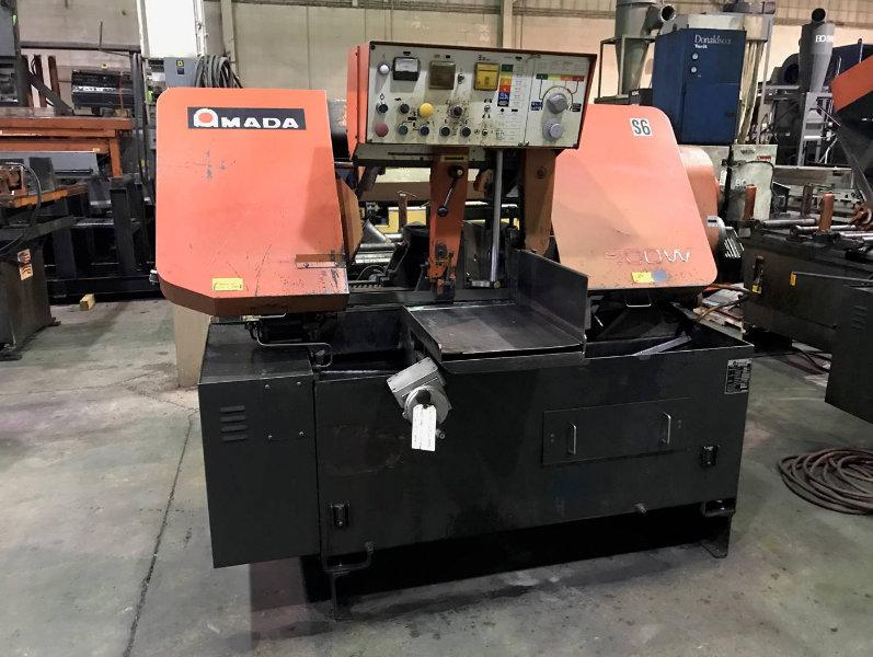 USED AMADA AUTOMATIC HORIZONTAL BAND SAW , Model HA-400W, 16