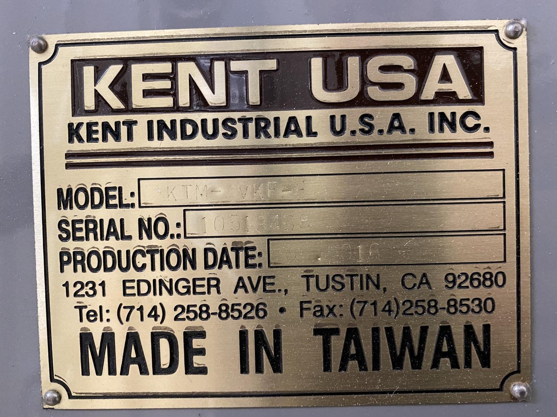 "USED KENT 12"" X 50"" CNC KNEE MILL MODEL KTM-4VKF-E, Year 2016, Stock# 10837"