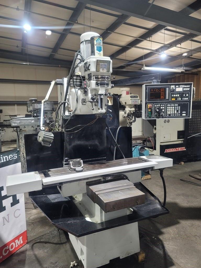 1 - PREOWNED HURCO CNC VERTICAL MILLING MACHINE 3-AXIS, MODEL #: HAWK 30/SSM, S/N: H30S-95015128A