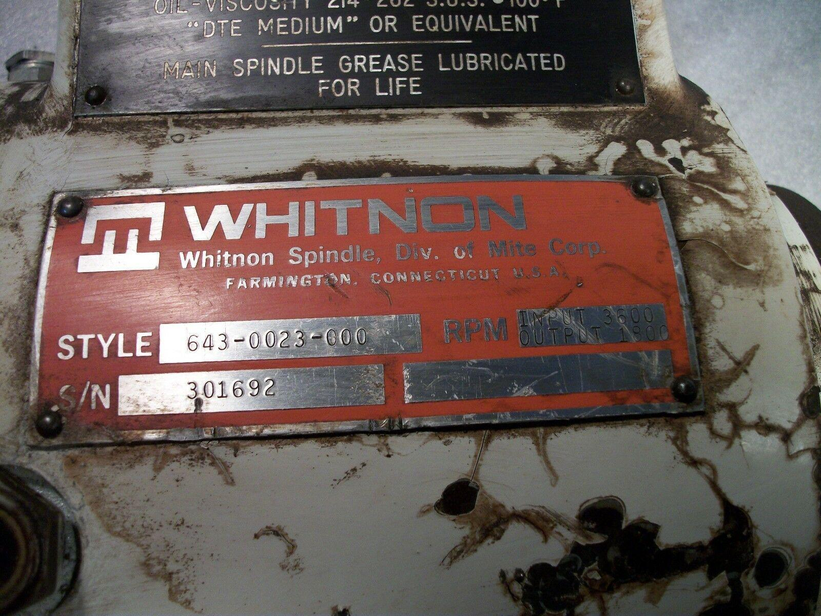 Whinton Vertical or Right Angle Head Attachment for a Milling Machine