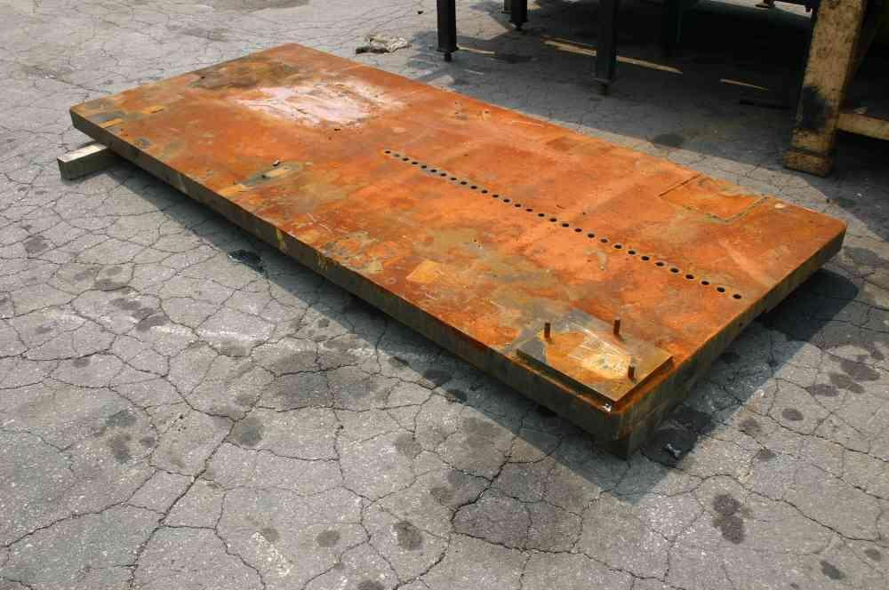 10' X 50' SOLID STEEL BOLSTER PLATE: STOCK #50749
