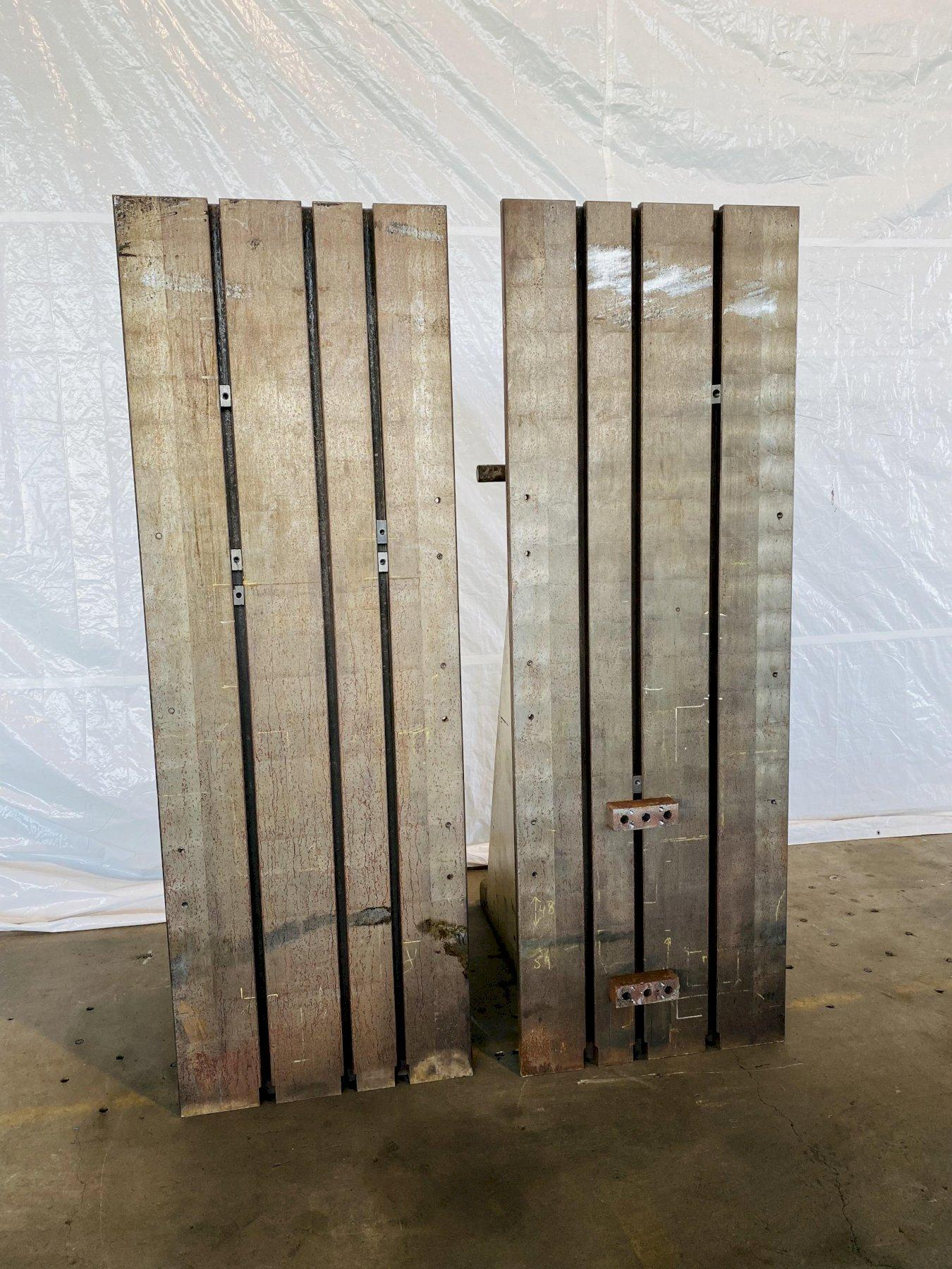 """96""""T X 32""""W X 48""""D T SLOTTED ANGLE PLATES. STOCK # 0737721"""
