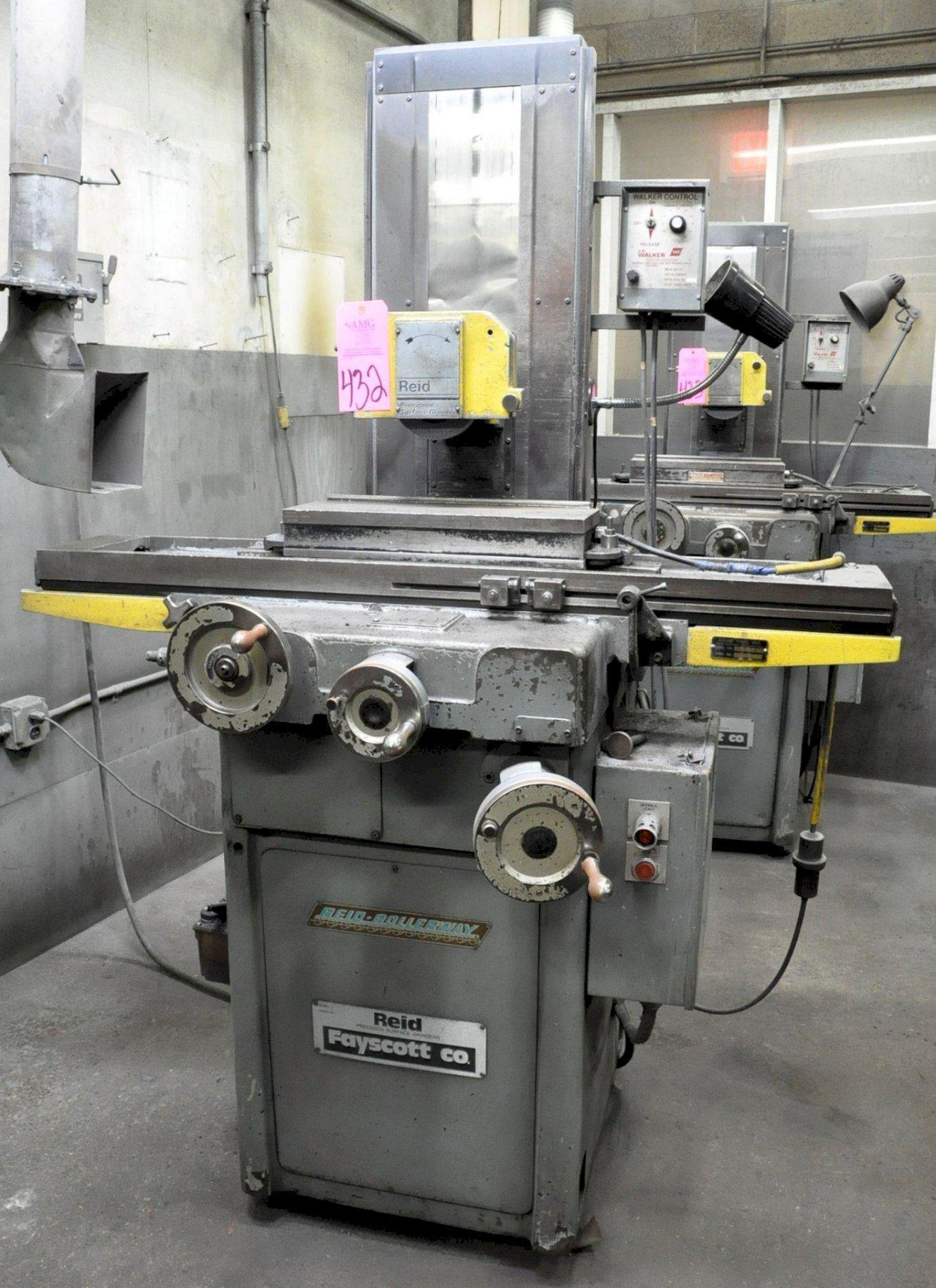"""6"""" X 18"""" REID HAND FEED SURFACE GRINDER: STOCK #73744"""