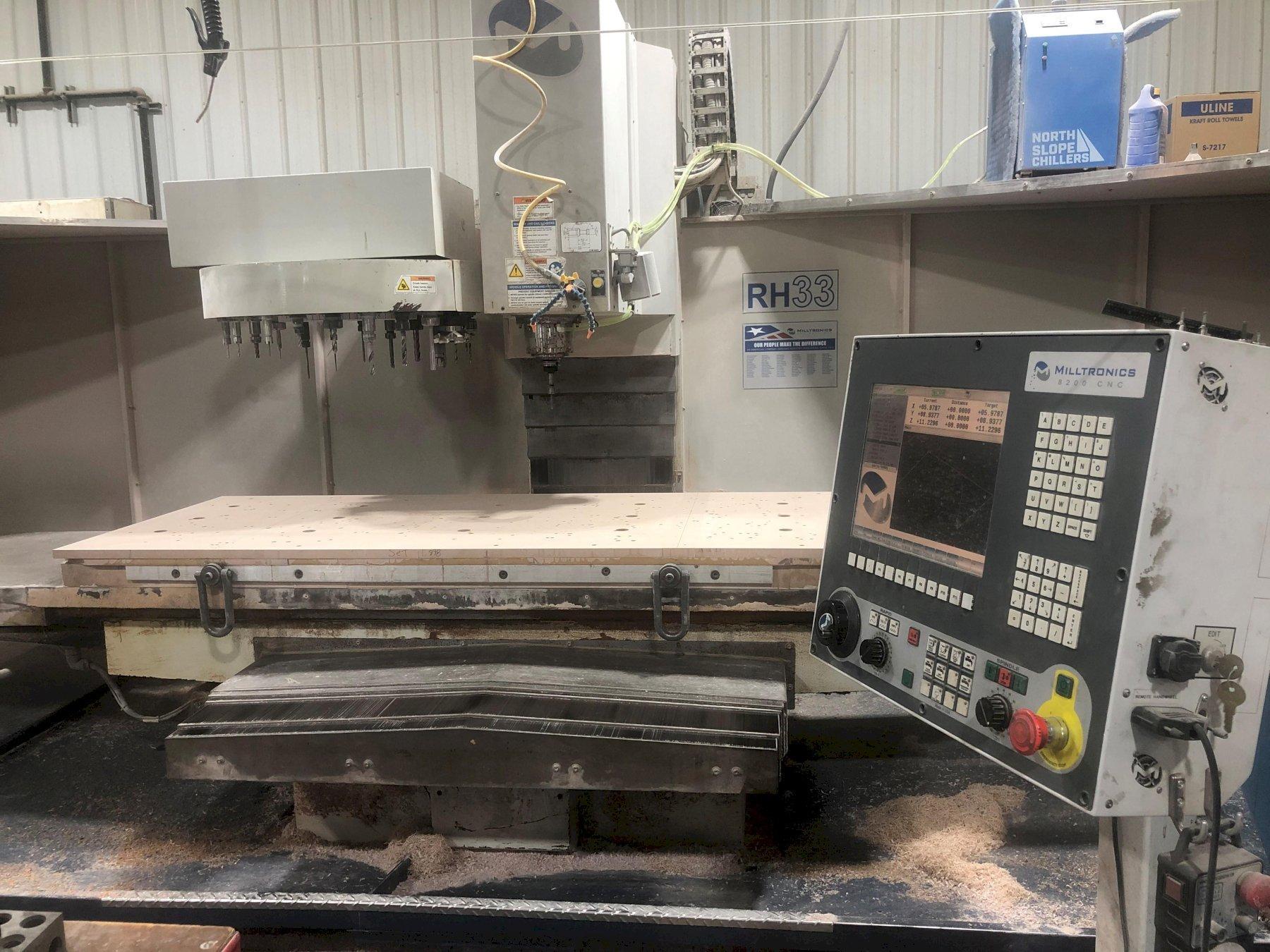 MILLTRONICS Model RH33 CNC Vertical Bed Mill / Machining Center, New 2013.