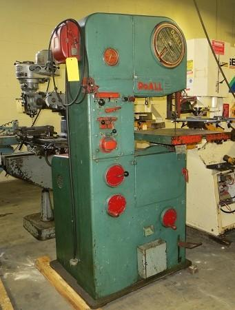 """16"""" Throat, Used DoAll Vertical Band Saw Model 16-2"""