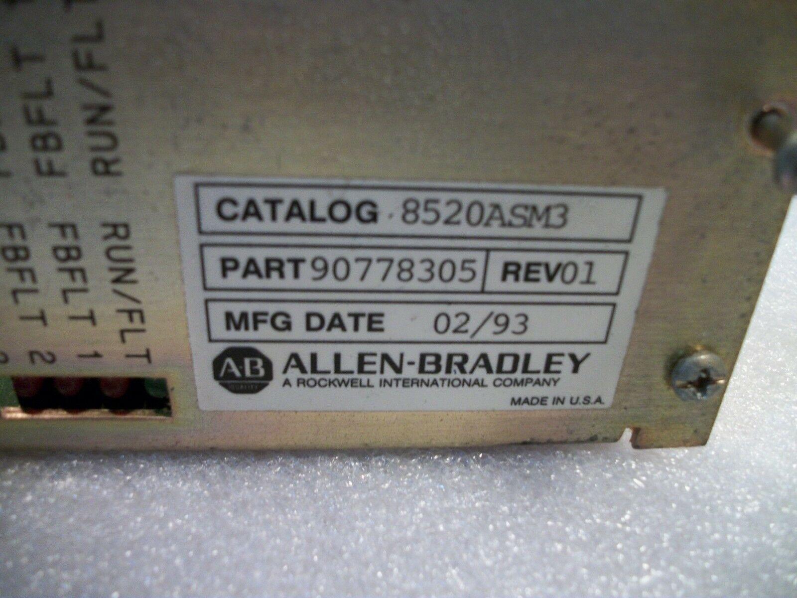 Allen Bradley Control Board 8520ASM3 Part# 90778305