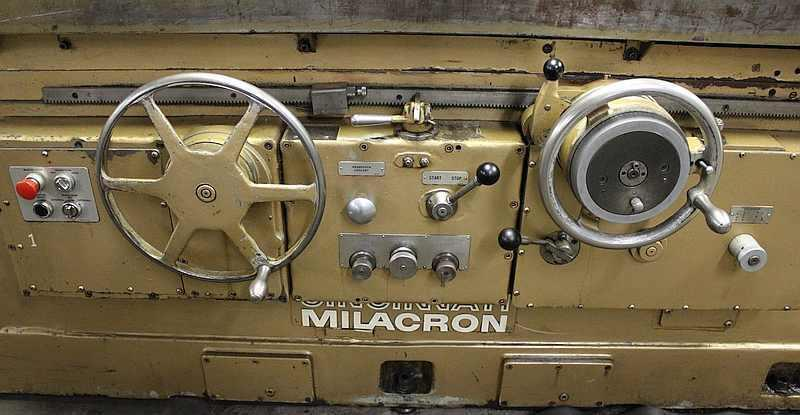 "26"" x 96"" CINCINNATI MILACRON, Model DE, 26"" Swing, 96"" Between Centers, Swivel Wheelhead and Workhead, Swing Down ID Spindle, New 1980."