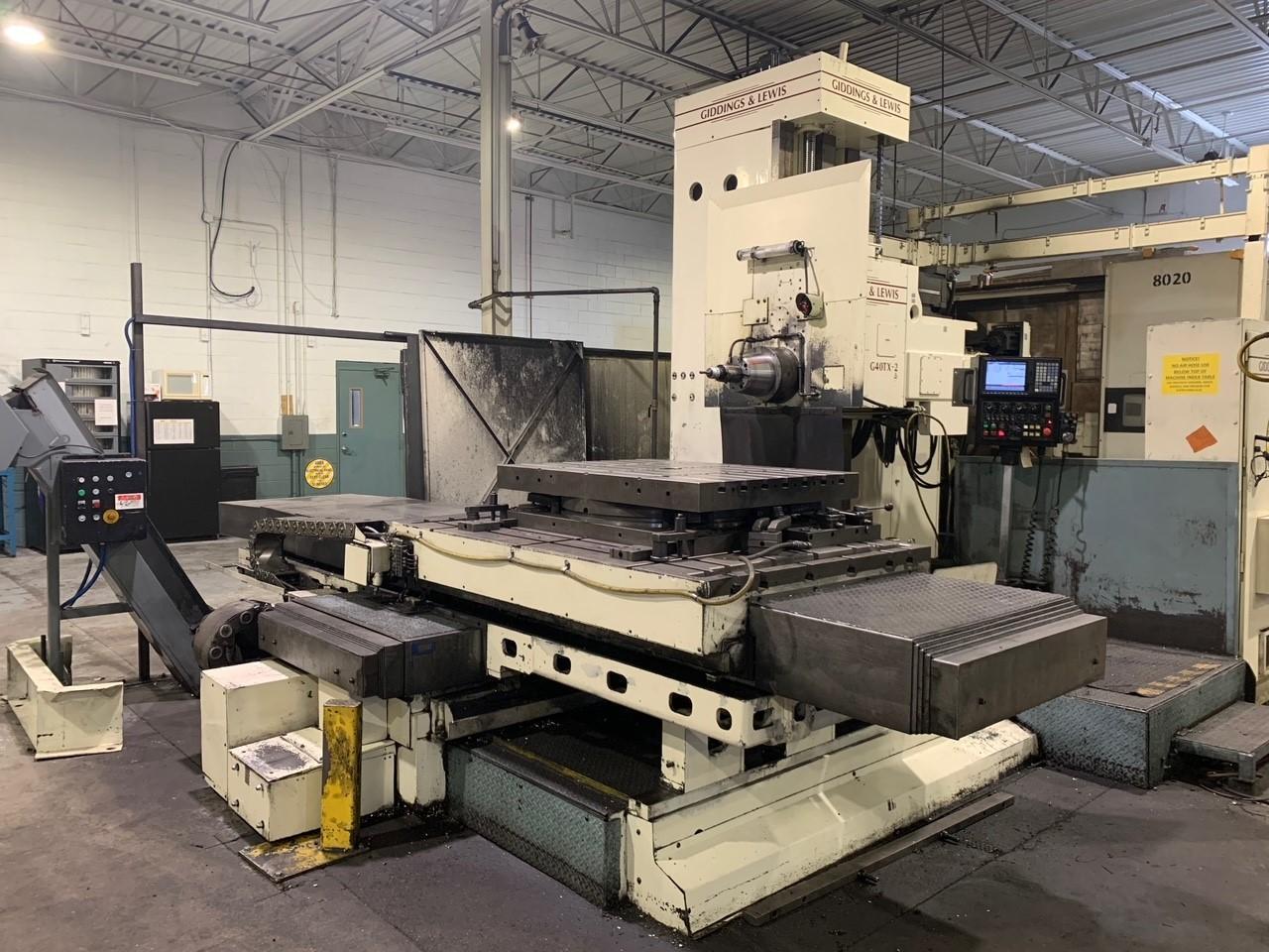 Giddings & Lewis G40TX-2 CNC Horizontal Boring Mill