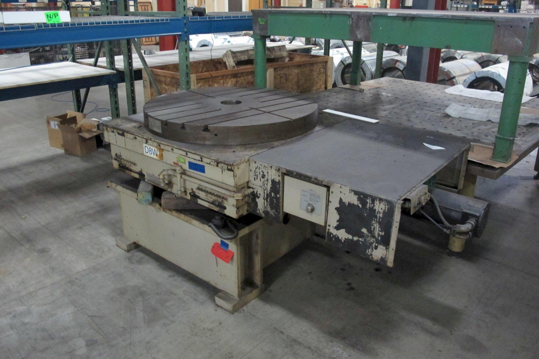 "48"" Giddings & Lewis CNC Hydrostatic Rotary Table with Inductosyn Scale & Riser, New in 1993 (2005 Update)"