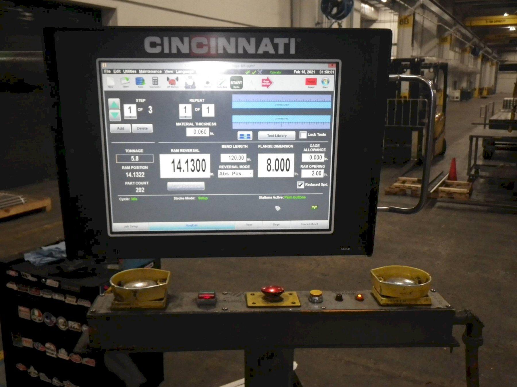 1996 Cincinnati 350CB2x12, 14' x 350 Ton CNC Hydraulic Press Brake