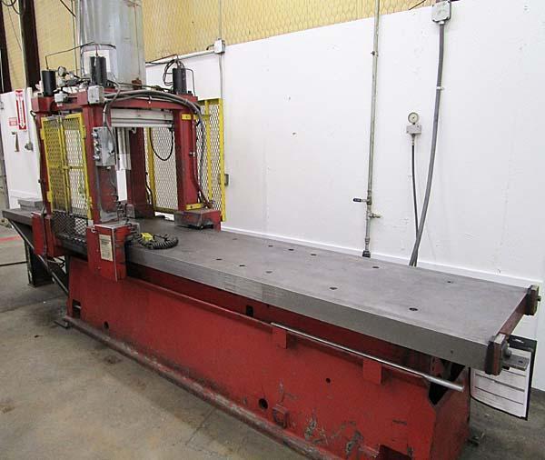 125 Ton H&H Machine Traveling 4 Post Hydraulic Straightening Press