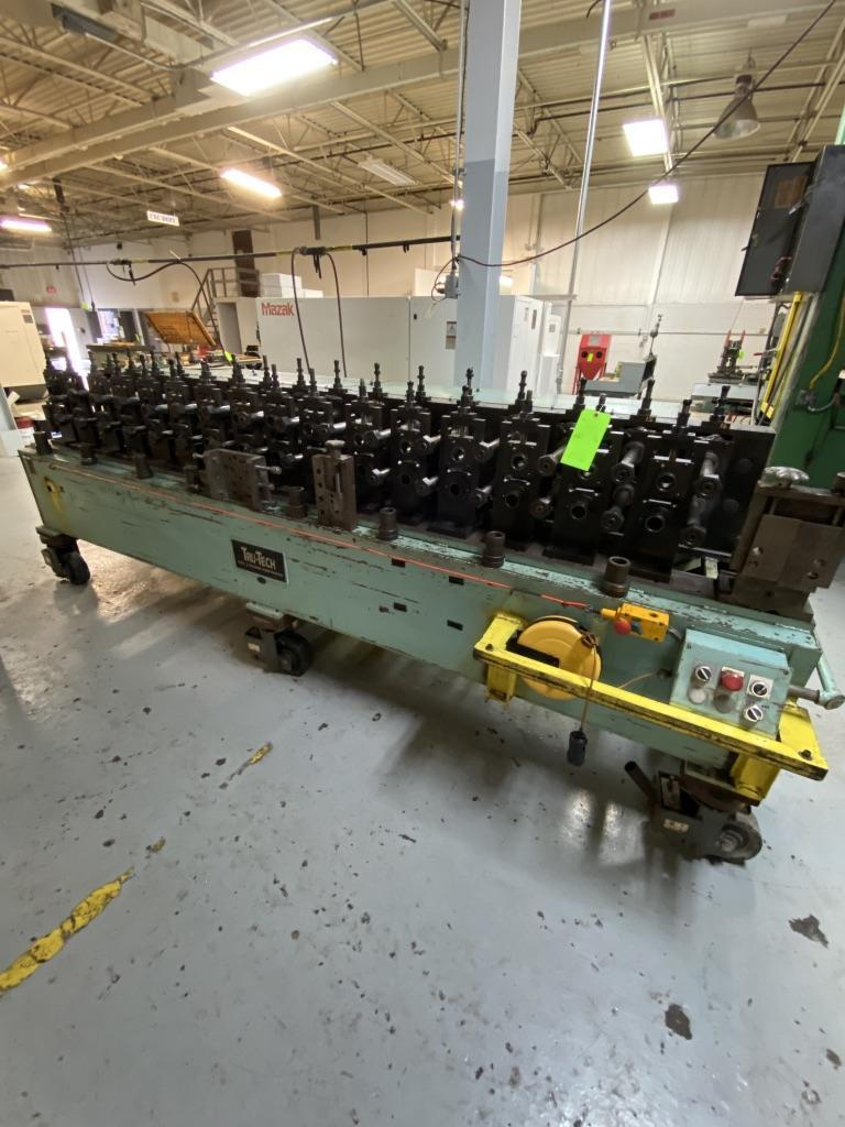 "16 STAND TRU TECH ROLLFORMER, 10"" ROLL SPACE, 1-1/2"" SPINDLES, 8"" HORIZONTAL CENTERS,"