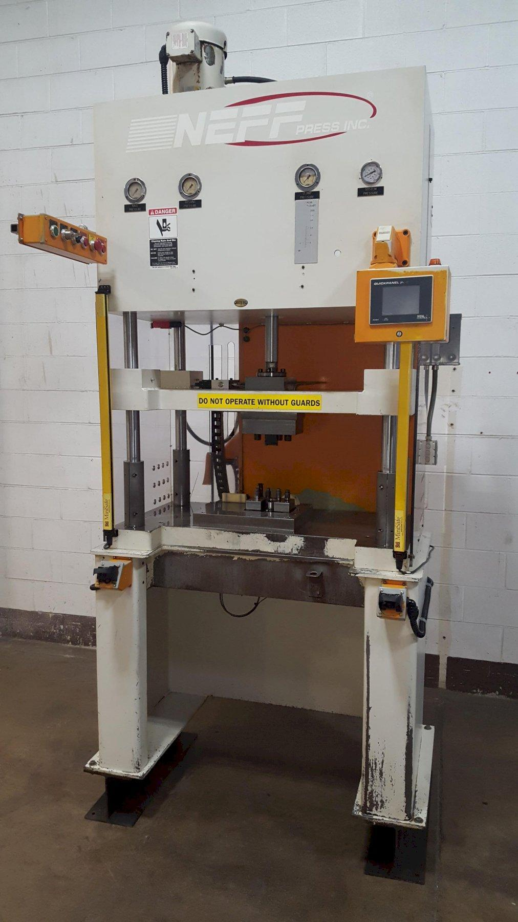 12-Ton Neff Model H12-5M 4-Post Hydraulic Press