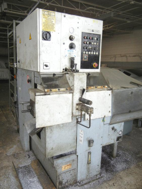 """USED WAGNER FULLY AUTOMATIC SAW FOR NON-FERROUS METALS WITH HEAVY DUTY GRAVITY FEED MAGAZINE, Model WAM-90, 3-1/2"""", Stock No. 8477"""