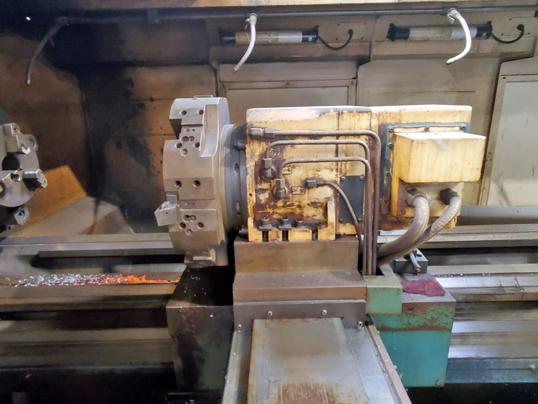 USED, KINGSTON CL-38 X 3000 DUAL TURRET HOLLOW SPINDLE CNC FLAT BED LATHE