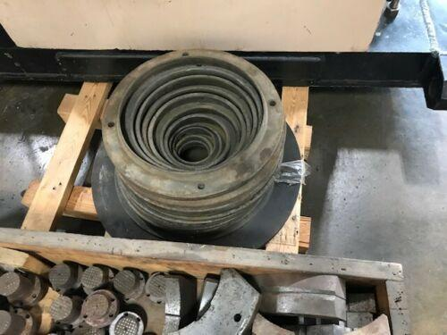 """31"""" ROTOMORS 4-JAW COMPENSATING HYDRAULIC CHUCK with 15"""" Bore, Model MC-ID, 15.15"""" Hole, 20mm Jaw Stroke, 55,000 LBS Clamp Force."""