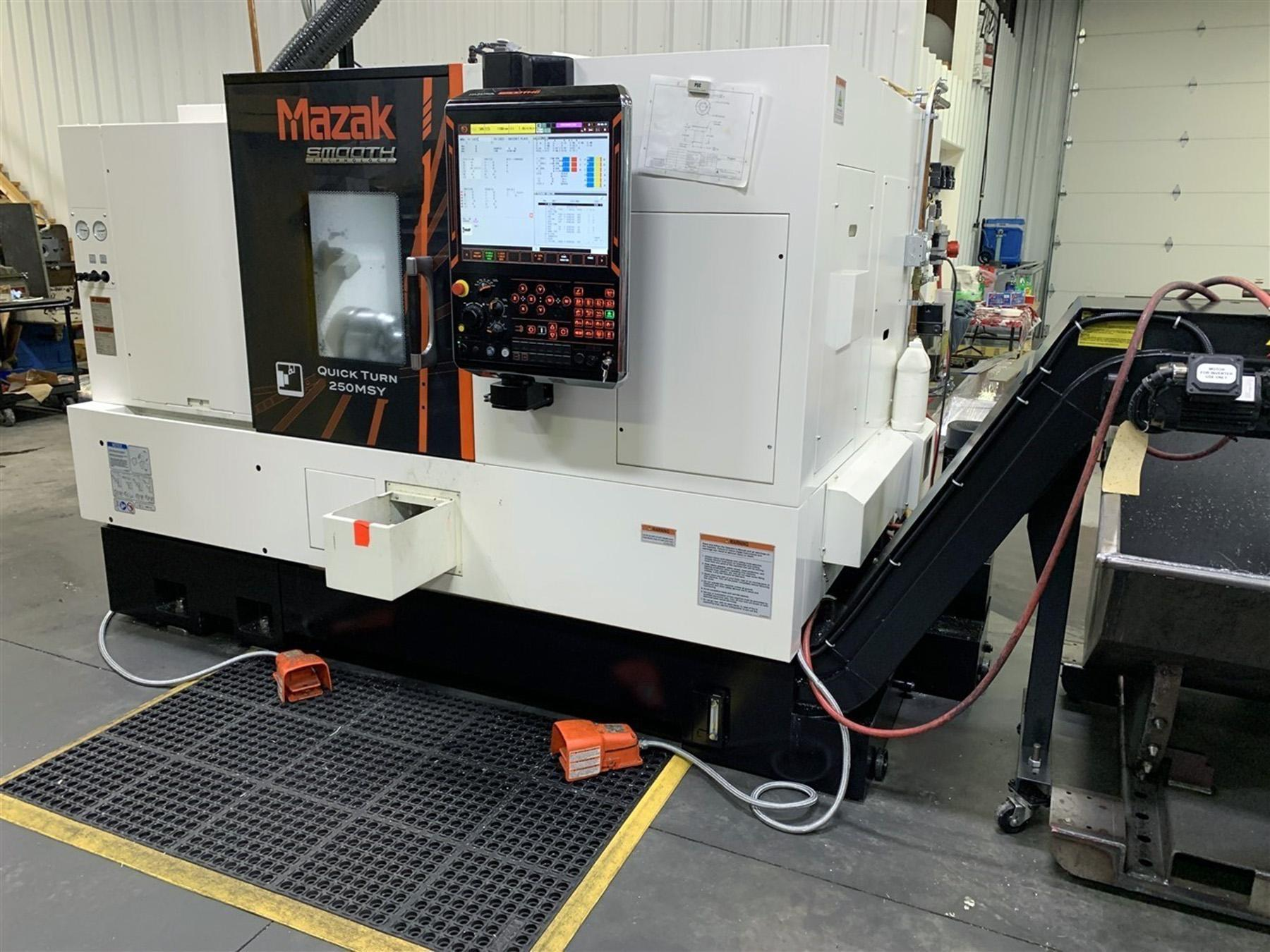 USED, MAZAK QUICK TURN 250 MSY CNC TURNING CENTER WITH SUB SPINDLE AND Y AXIS