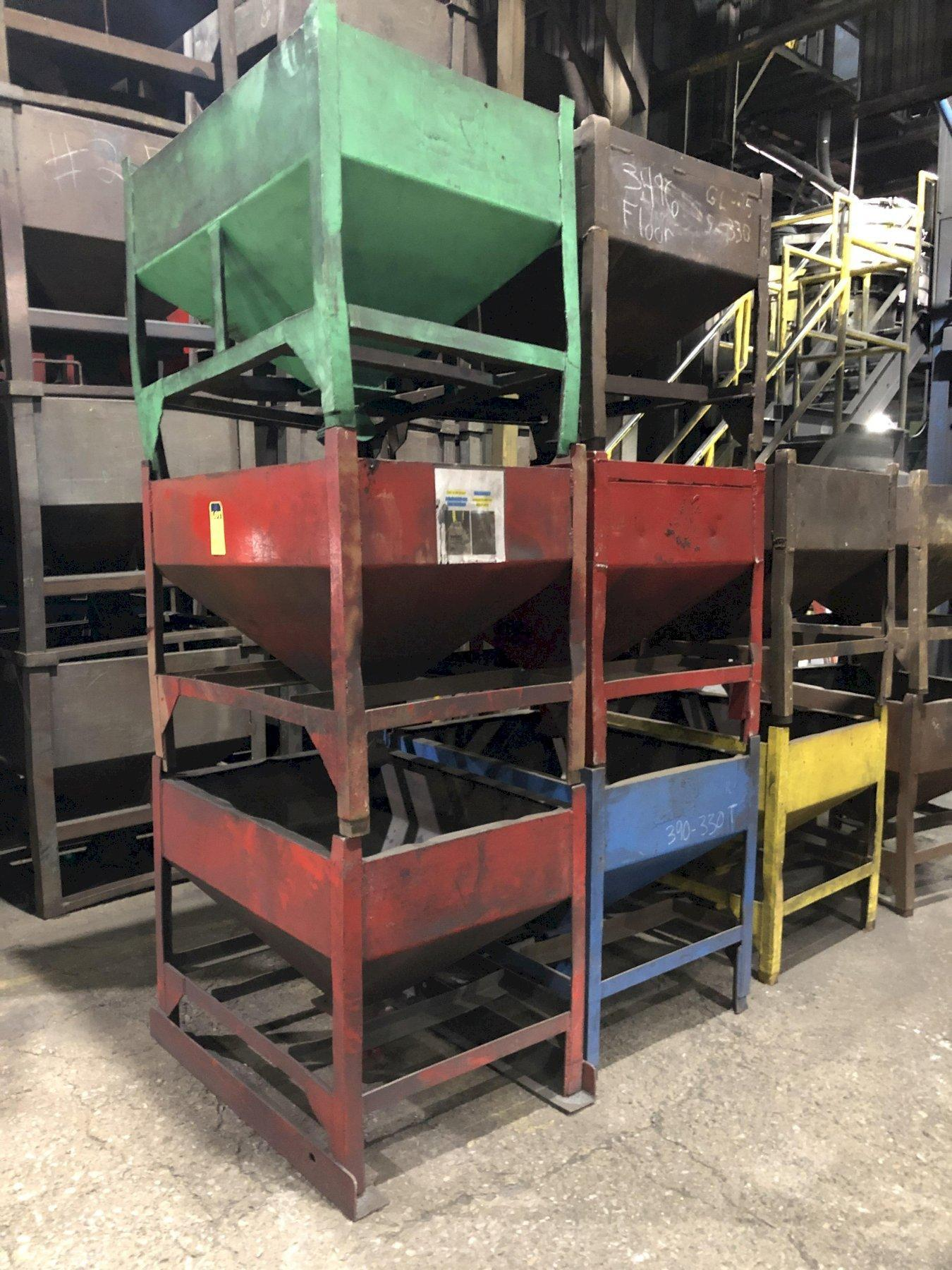 """approx. 52- 2000# portable hoppers 30"""" x 40"""" x 36"""" tall, priced each"""
