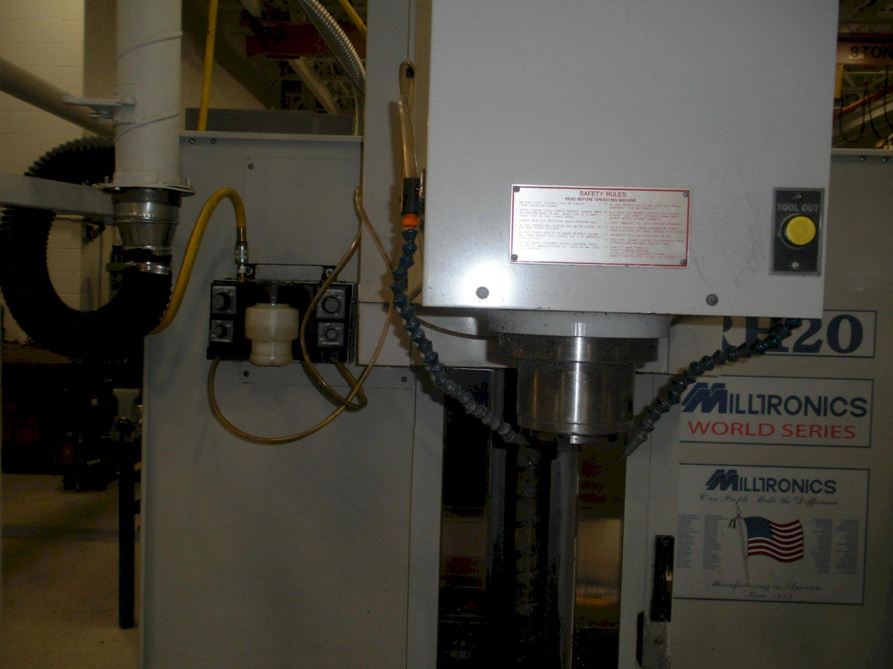 Milltronics Model RH20 CNC 3-Axis Rigid Head Bed Mill, New 2004.
