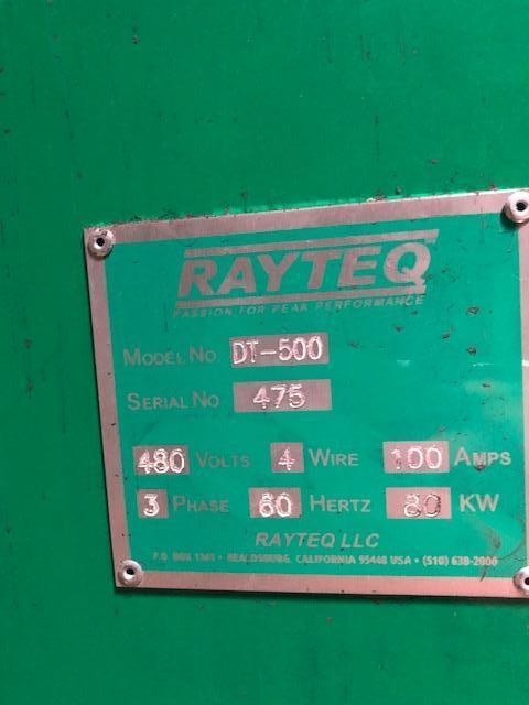 RAYTEQ MODEL DT500 500# PER HOUR MELT RATE ELECTRIC LADLE WITH POWER SUPPLY S/N 475, 1500# CAPACITY