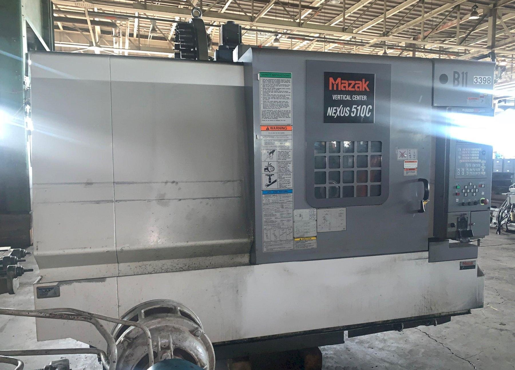2003 MAZAK NEXUS 510C CNC VERTICAL MACHINING CENTER: STOCK #13486