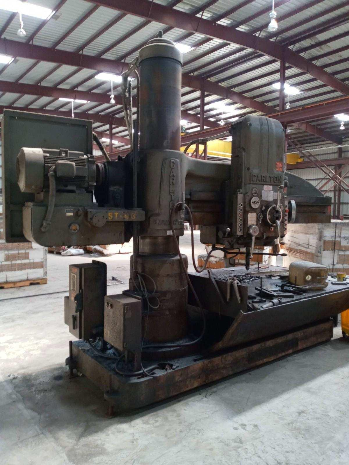 "6' X 15"" CARLTON 3A RADIAL ARM DRILL. STOCK # 0309821"