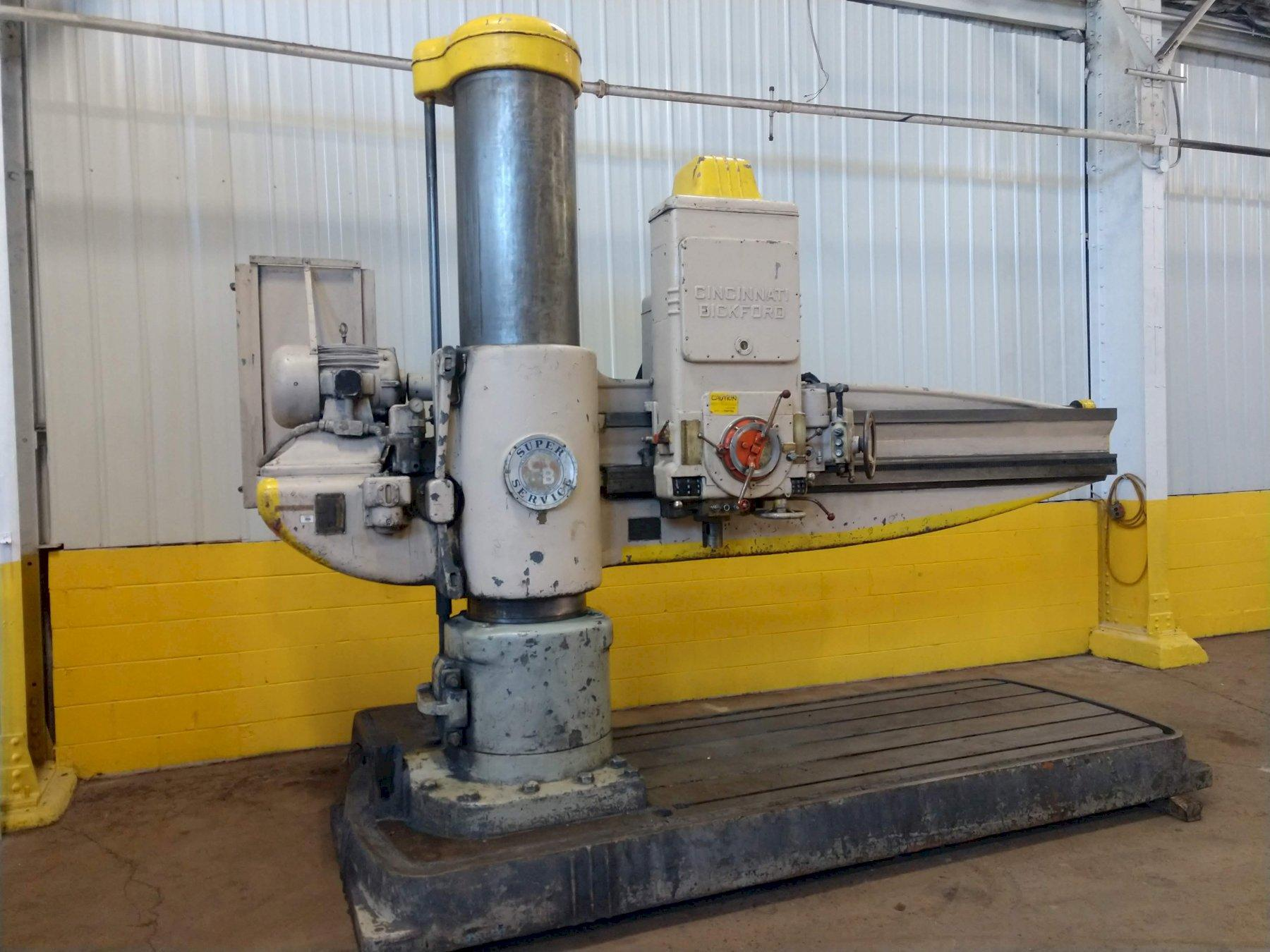 "6' X 19"" CINCINNATI BICKFORD MODEL #6E HEAVY DUTY  RADIAL DRILL: STOCK #12244"