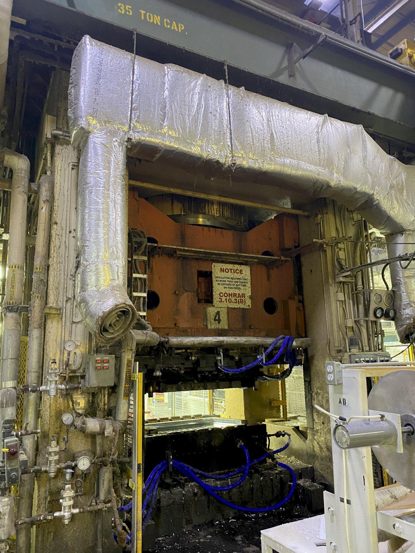 "3000 Ton USI Clearing Hydraulic Press, Model MV-3000-108-72, 48"" Stroke, 108"" L-R x 72"" F-B Bed, Year 1971"