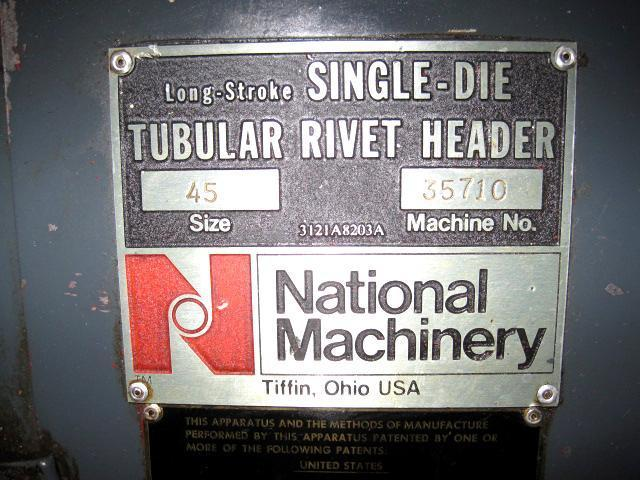 "1/4""  National 45 Tubular Rivet Header"