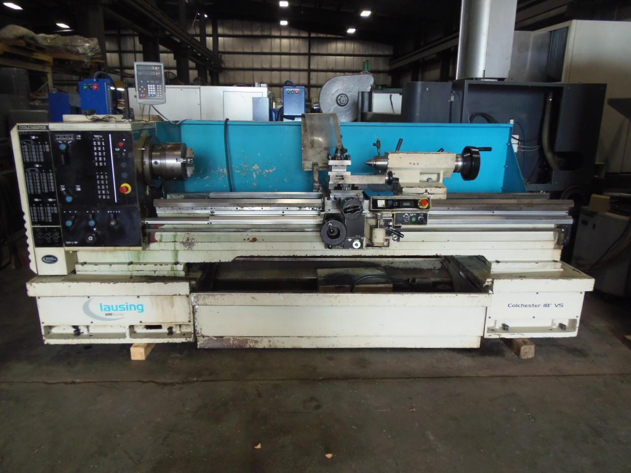"18"" x 80"" CLAUSING 600 ENGINE LATHE, 10"" 3-JAW CHUCK, 3.0"" THRU HOLE, NEWALL DRO, 2005"