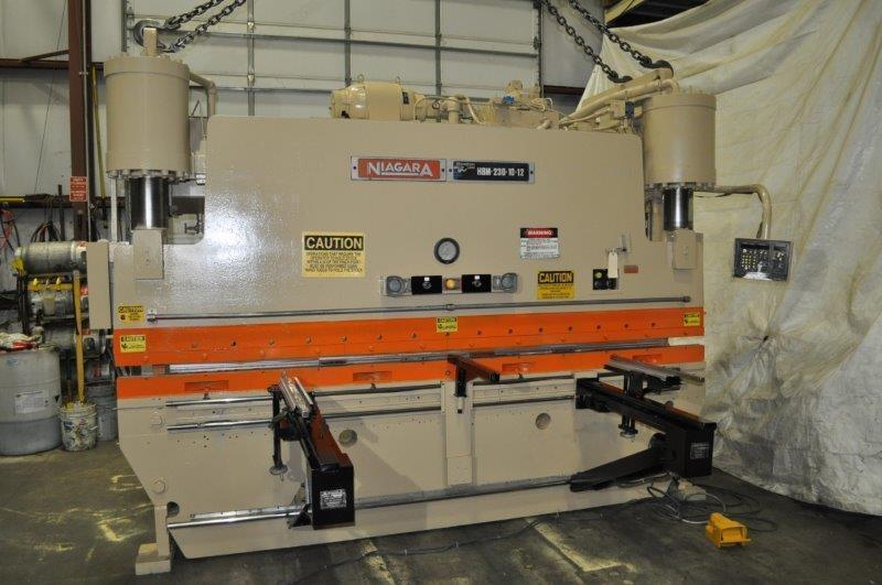 230 Ton x 12' Niagara Press Brake