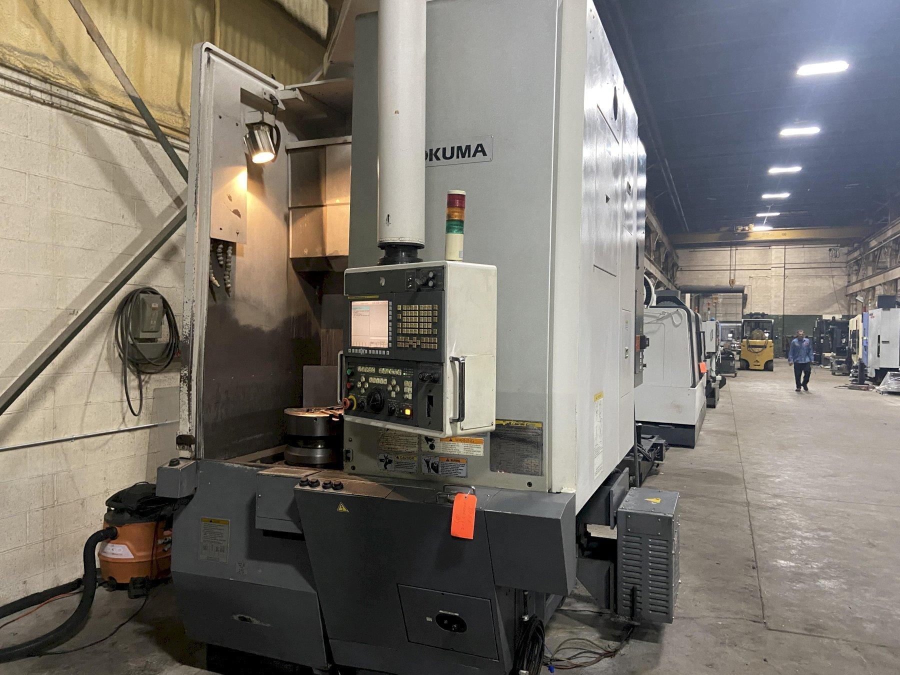 "Okuma V60R CNC Vertical Lathe, Fanuc 31iMB, 15"" Chuck, 27.56"" Swing, 12 Position Turret, 40 HP,  2000 RPM, 14.57""x/25.98""z Travels, Coolant, 2010"