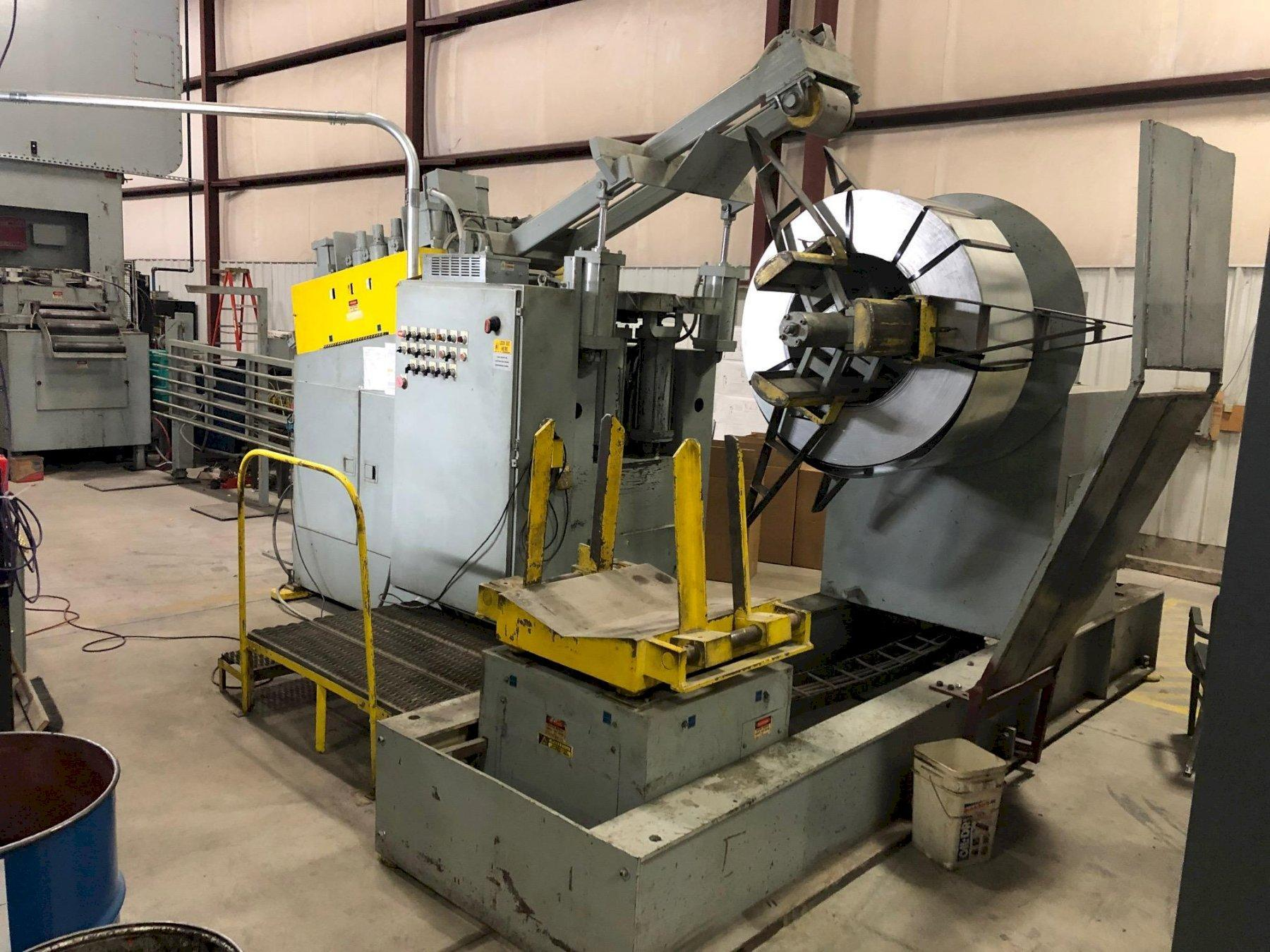 Air Feeds Inc. Coil Reel Uncoiler and Powered Coil Straightener 10,000 Lbs.