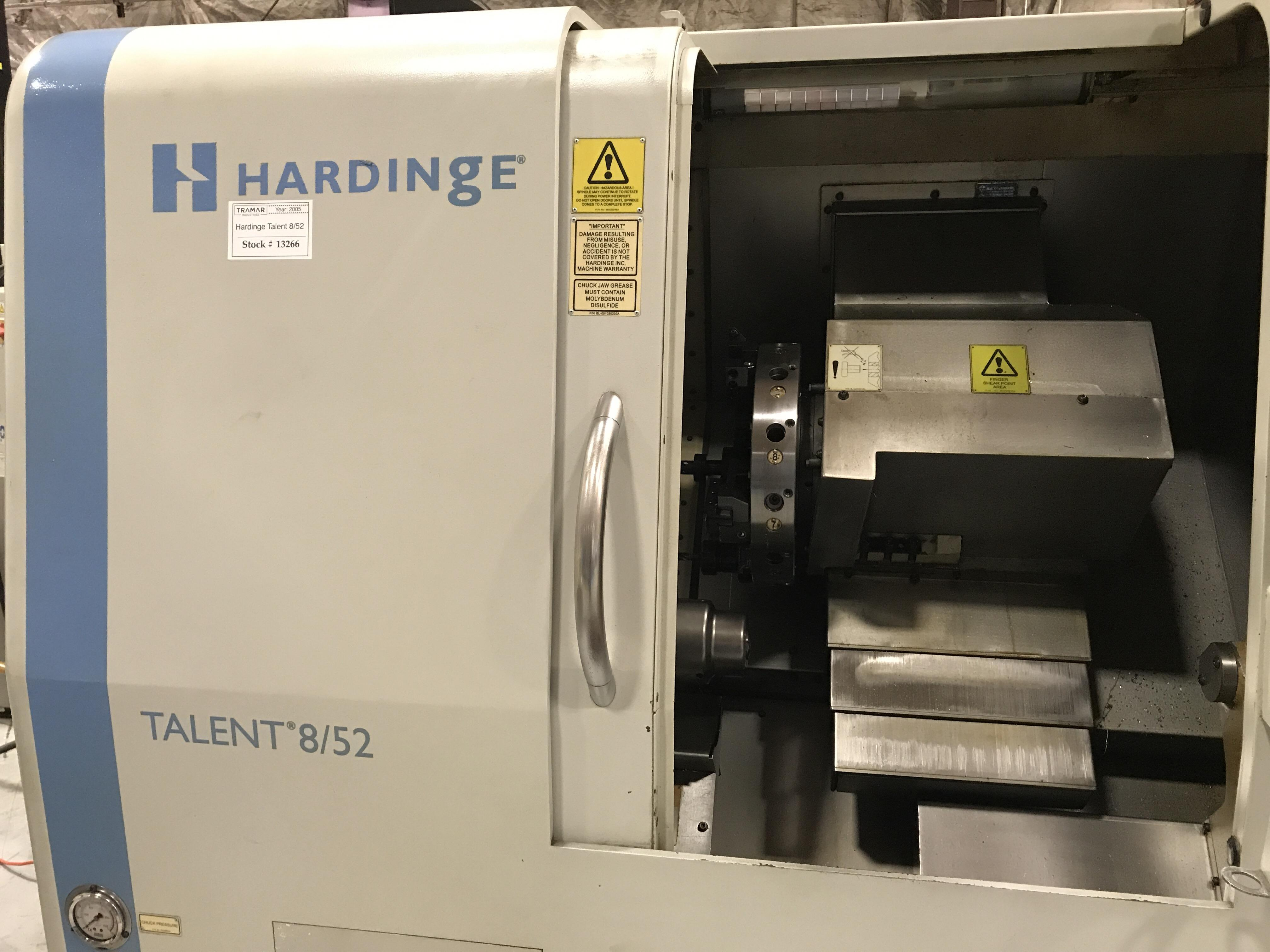 2005 Hardinge Talent 8/52 - CNC Horizontal Lathe
