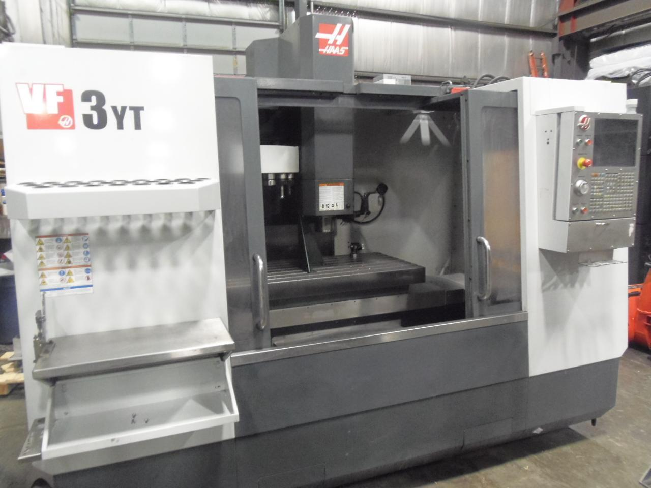 "HAAS VF-3YT, 2012, 12"" 4TH AXIS ROTARY, 24 X 54 TABLE, PROBE, GEARED, 8100 RPM"
