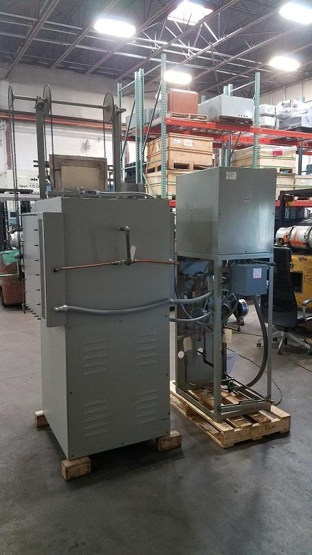 Lucifer 2450°F Model HS3GT-L18 Electric Furnace With: Natural Gas Burn Off/ Flame Curtain and Inert Atmospheric Chamber