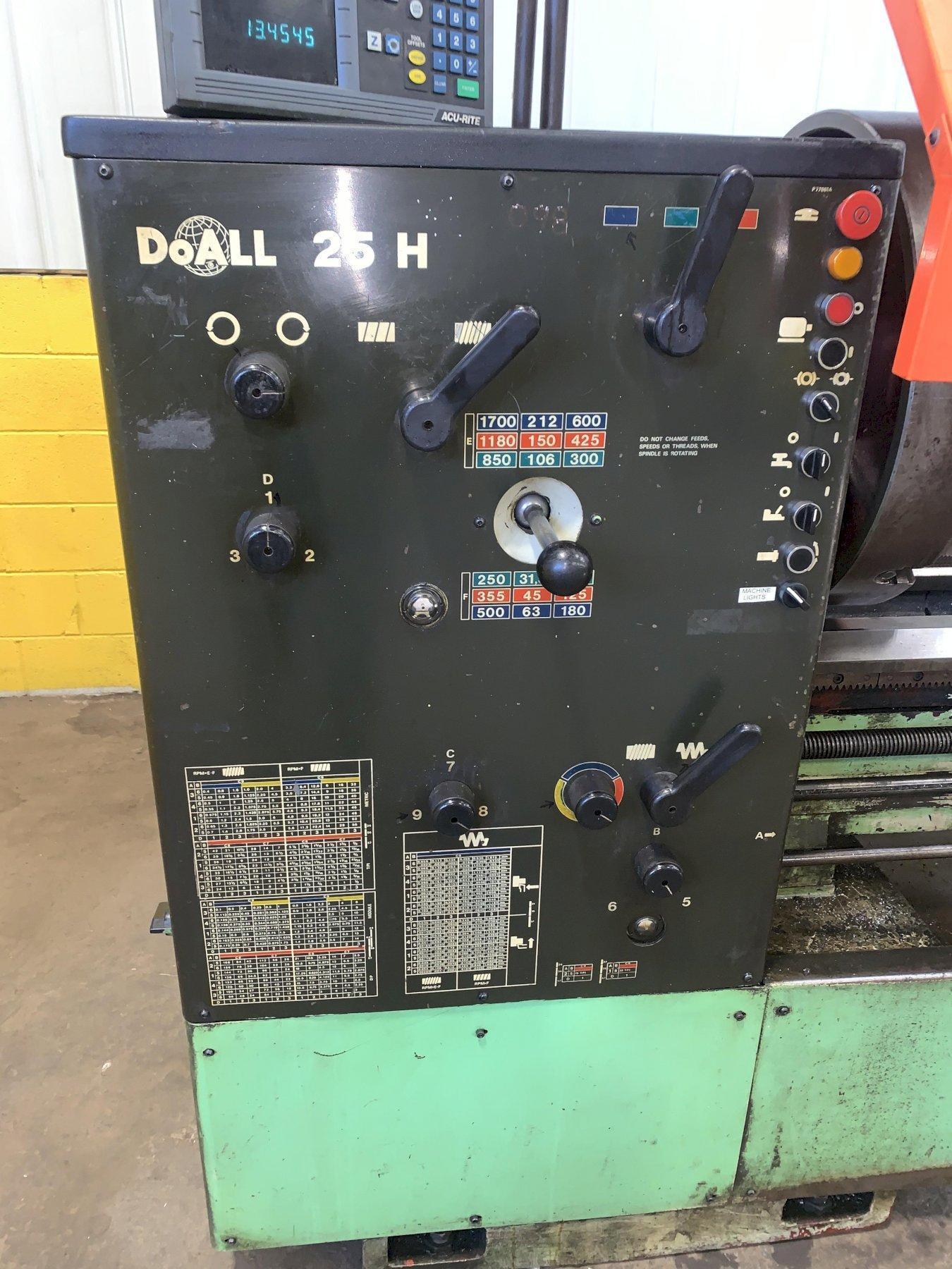 "25"" X 120"" DOALL ROMI MODEL 25H GAP BED ENGINE LATHE"