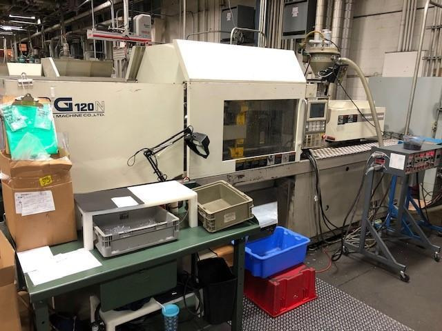 Toshiba Used ISG120N Injection Molding Machine, 120 US ton, Yr. 1998, 4.1 oz