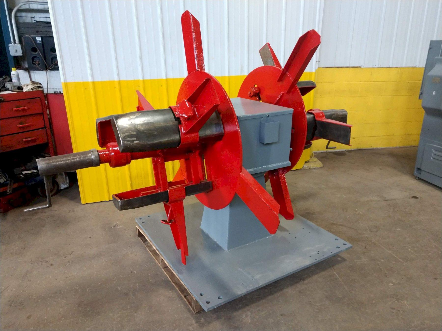"2500 LB X 18"" AMERICAN DOUBLE END NON MOTORIZED COIL REEL UNCOILER: STOCK  #14164"