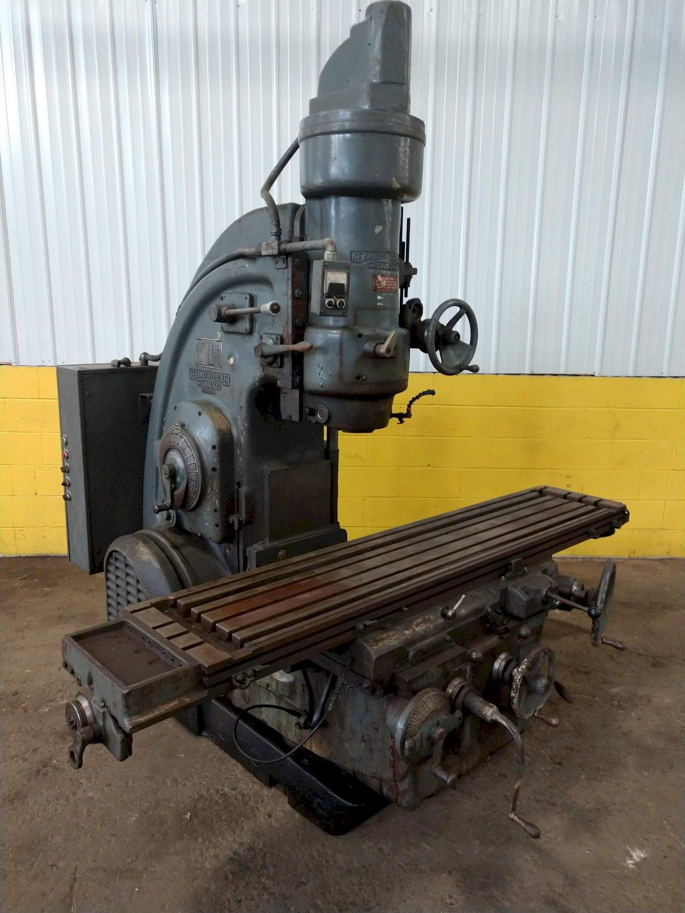 #3 KEARNEY & TRECKER MODEL #320TF-16 VERTICAL MILL: STOCK #13216