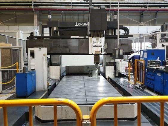 Okuma MCR-B III 30/50 (5-Axis) CNC Double Column Machining Center, 20,000 RPM, HSK 63 Taper, 100 ATC, OSP-P300M Control New 2013