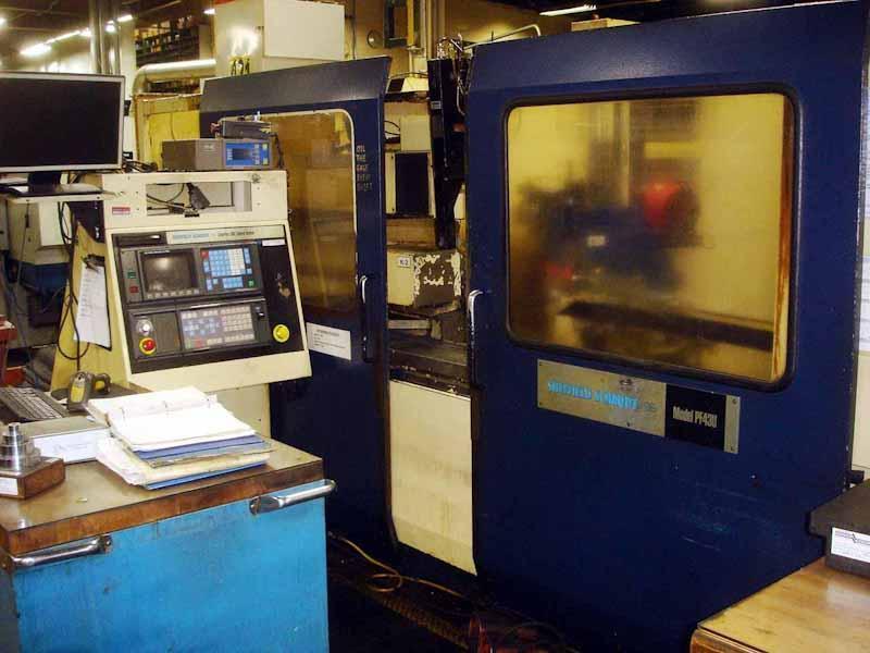 12 x 69 Sheffield Schaudt Model PF 43 UB 1750 4-Axis CNC Universal OD/ID Cylindrical Grinder
