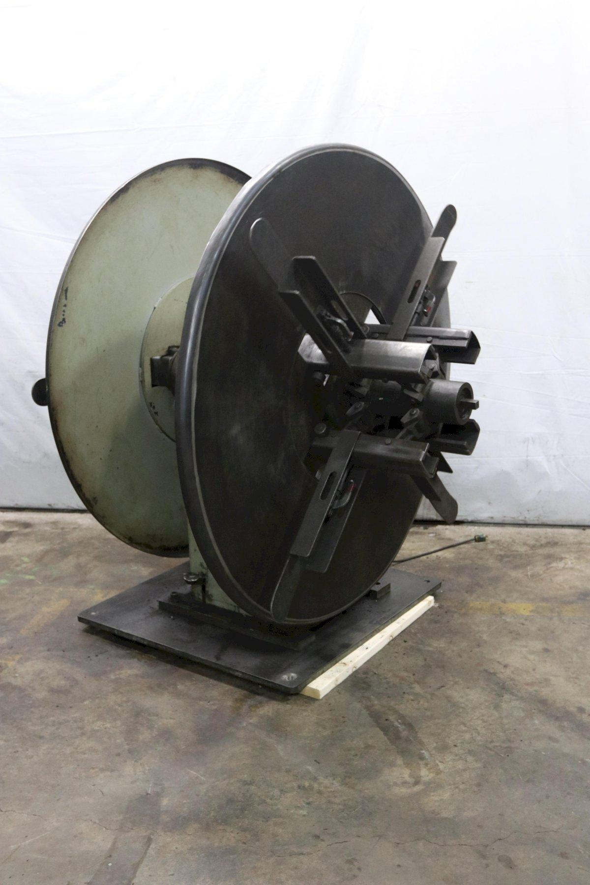 """6,000 LB X 12"""" PERFECTO MODEL #RD4-12B DOUBLE END COIL REEL UNCOILER: STOCK 12050"""
