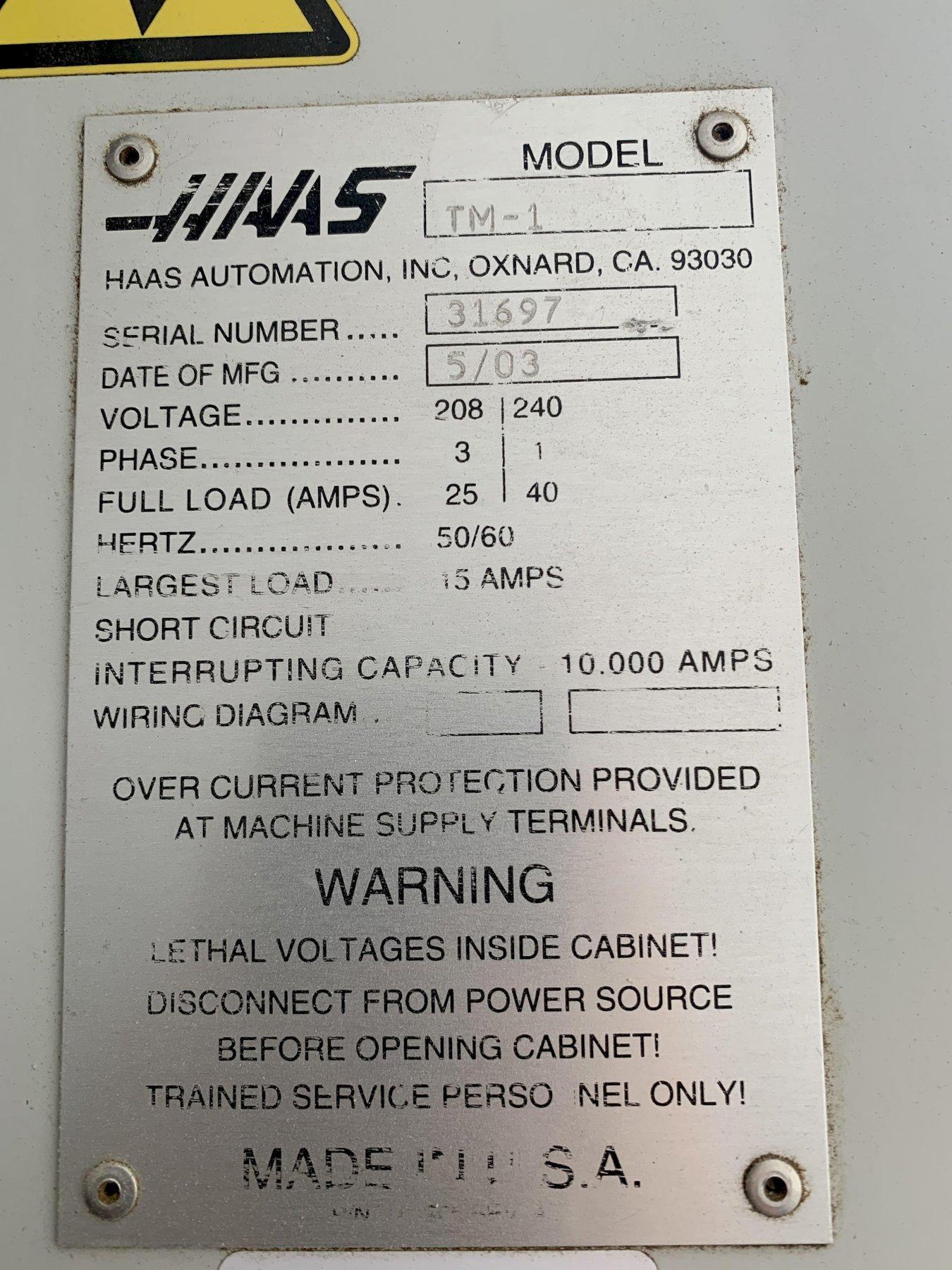 Haas TM-1 Vertical Mill