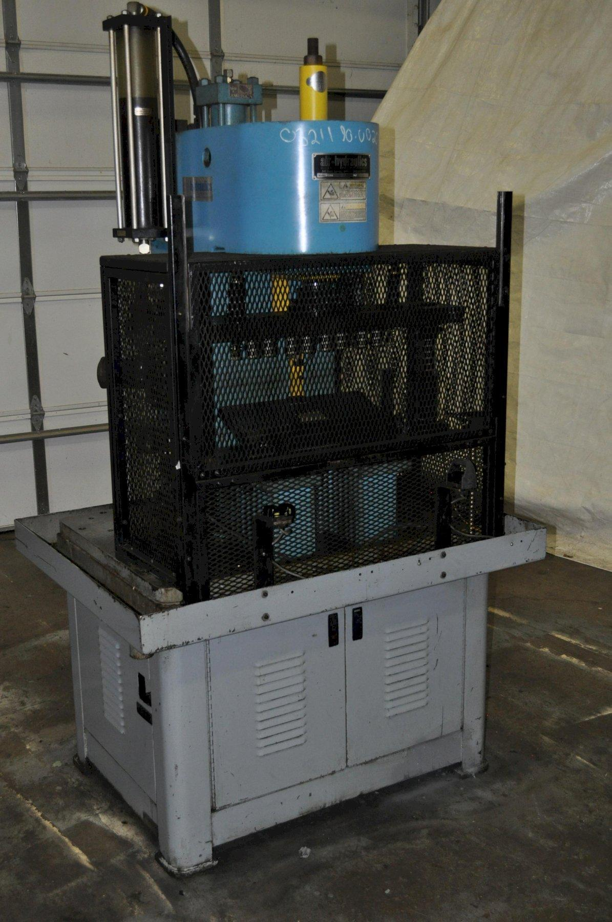 15 TON AIR-HYDRAULICS PRESS WITH AUTO LIFT GATE