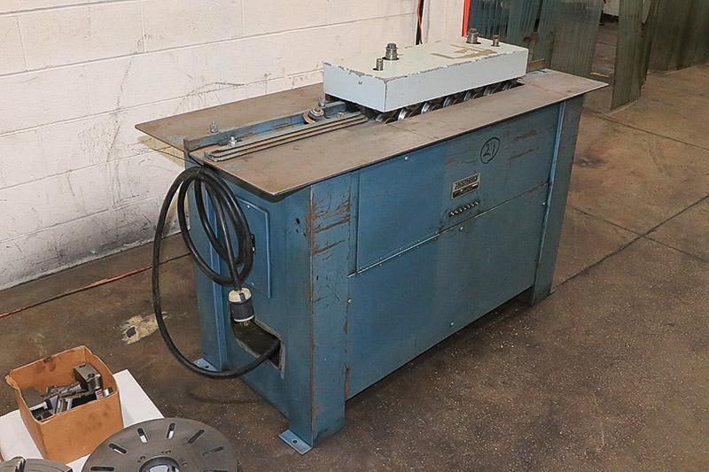 18 Ga. Used Lockformer Pittsburgh Machine w/ 3 in 1 Rolls